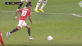 Marcus Rashford gol Chelsea