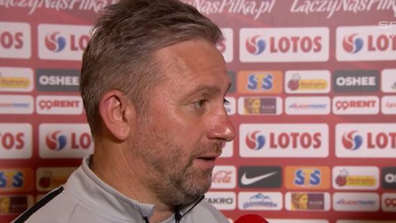 Jerzy Brzęczek konferencja Łotwa
