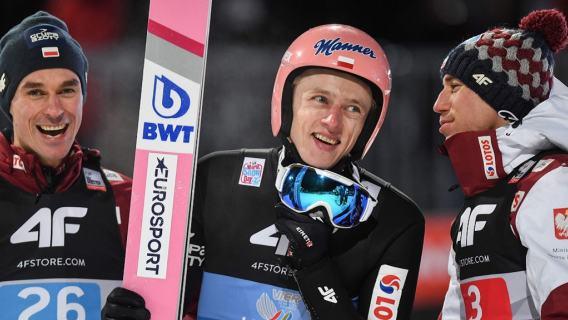 Dwaj Polacy na podium w Zakopanem. Perfekcyjny skok Dawida Kubackiego, fenomenalny Kamil Stoch