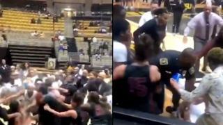 Koszykówka bójka kobiety