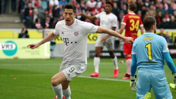 Robert Lewandowski gol Bayern Monachium Koln Kolonia Bundesliga