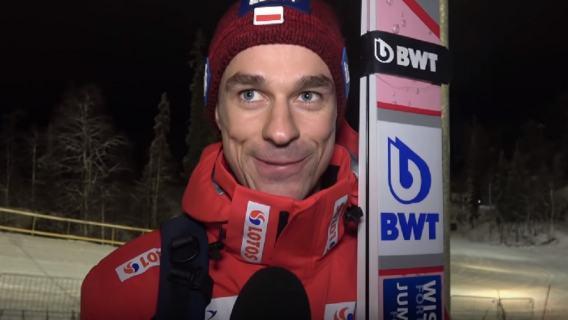 Piotr Żyła mikrofon Lahti