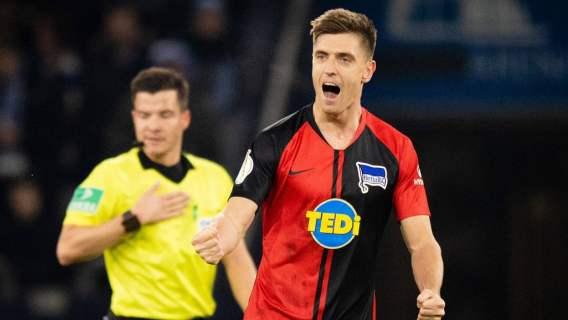 Krzysztof Piątek gol Hertha RB Lipsk Berlin