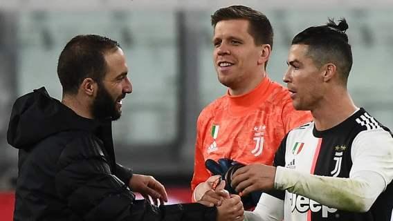Wojciech Szczęsny, Cristiano Ronaldo, Gonzalo Higuain