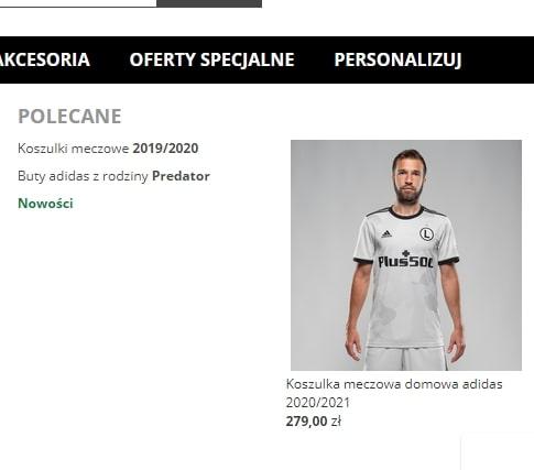 Ekstraklasa koszulki Legii