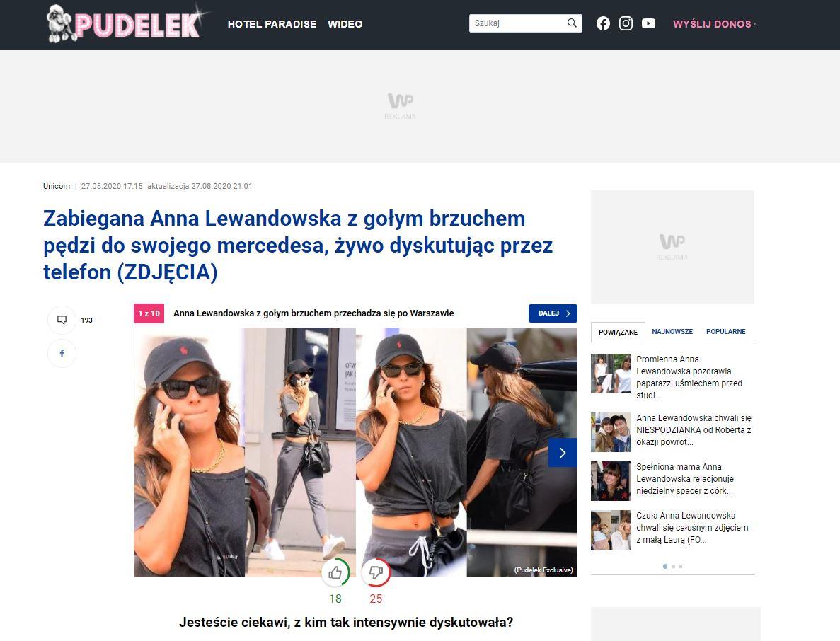 Anna Lewandowska Pudelek