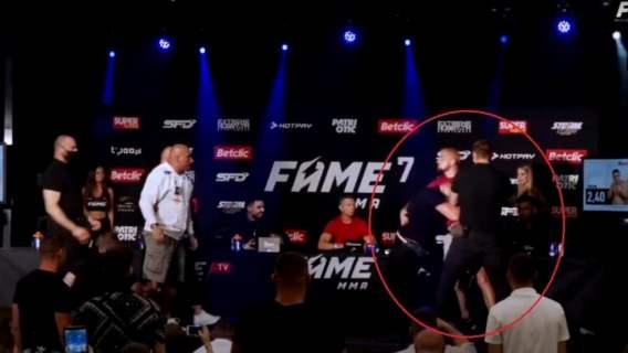 Gigantyczna awantura na konferencji przed Fame MMA. Marcin Najman nie wytrzymał, nagle zaczęła się draka