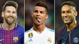 Piłkarze, Messi, Ronaldo, Neymar