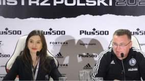 Konferencja trenera Legii Warszawa