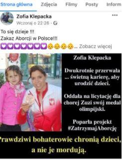 Zofia Klepacka/Facebook