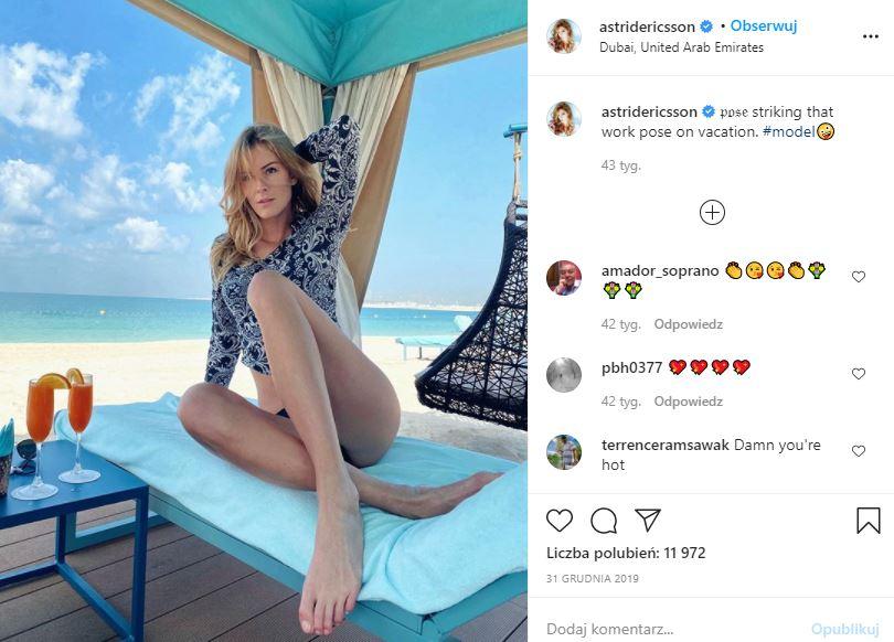 Modelka Astrid Ericsson