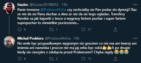 Michał Probierz twitter