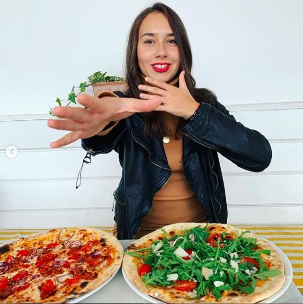 Justyna Żyła Piotr Żyła pizza