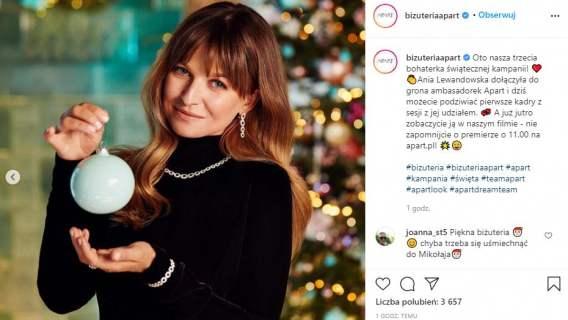 Anna Lewandowska reklama Apart