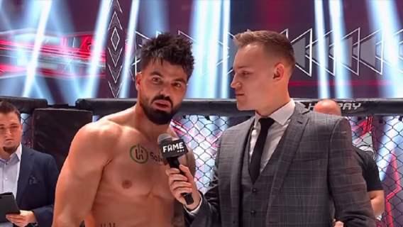 Fame MMA. Tyburski po walce