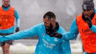 Real Madryt śnieg